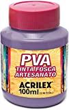 Tinta PVA, Acrilex 032100528, Lilás, 100 ml, Pacote de 6