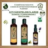Kit cosméticos veganos PetLab para Cães Pelos Claros (Shampoo + Condicionador + Deo Colonia Lavanda)