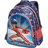 Mochila Escolar, Miraculous, Pacific, 966K04, Azul e Vermelho