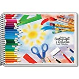 Caderno Desenho Universitario, Pacote com 10 Cadernos, Capas Sortidas