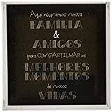 Arte Maníacos Quadro Decorativo em Tela Canvas Família e Amigos - 32,5x23cm