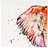 Arte Maníacos Quadro Decorativo em Tela Canvas Elefante Color - 32,5x23cm
