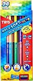 Lápis De Cor Ponta Dupla Mega Soft Color - Bicolor - 24 Cores + Apontador - Tris