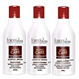 Kit Home Care Forever Liss Leave-in 300g, Shampoo e Condicionador 300ml