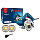 Serra Mármore a seco Bosch GDC 150 TITAN 1500W 220V, com 2 Discos