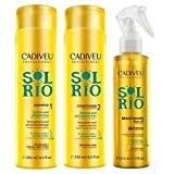 Cadiveu Sol do Rio Duo Kit Shampoo (250ml), Condicionador (250ml) e Beach Waves (215ml)
