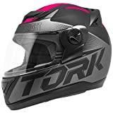 Pro Tork Capacete Evolution G7 Fosco 60 Preto/Rosa