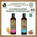 Kit cosméticos veganos PetLab para cães filhotes (Shampoo + Condicionador)
