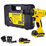 STANLEY SCHI121S2-BR Parafusadeira/Furadeira de Impacto 12V c/2 Baterias + Maleta 110V