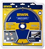IRWIN 15179 Lâmina de Serra Circular Multicorte 300 mm 80 Dentes Prata/Azul e Amarelo15179
