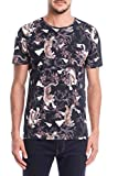 Colcci Camiseta Slim Full Print: Estampada, GG, Preto/Off/Verde/Roxo/Bege/Azul/Cinza