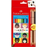 Lapis De Cor Sextavado, Faber-Castell, Ecolápis, 12 Cores+3 Caras E Cores, 12 Estojos com 15 Lápis cada