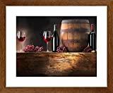 Quadro Decorativo Adega Vinho Taças Decore Pronto Multicor 45x55cm