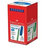 Caneta Esferográfica Trilux 035 Ponta Fina 50 Unidades, Faber-Castell, Azul