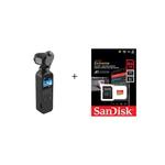 Dji Osmo Pocket + Cartão Micro Sd 64gb Extreme 4k