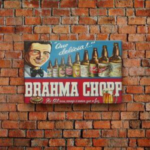 Placa Decorativa Brahma Chopp 30X19