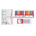 Kit - Planner Ótima Gráfica Pink Stone + 3 Estojos de Canetas Faber-Castell Finepen