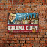 Placa Decorativa Brahma Chopp 30x19