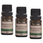 Kit c/3 Oleo Essencial Eucaliptus Globulus Via Aroma 10ml