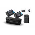 Kit Battery Grip DMW-BGGH5 + 2 baterias + 1 Carregador p/ Panasonic LUMIX DMC-GH5 DMC-GH5S