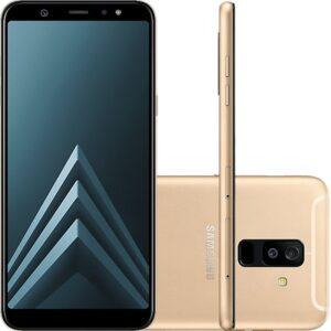 """Smartphone Samsung Galaxy A6 Plus Dourado Tela Infinita De 6"""" Câmera"""
