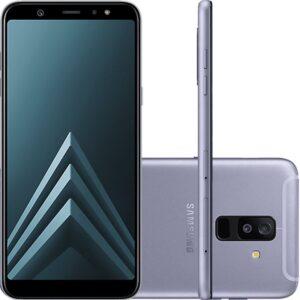 """Smartphone Samsung Galaxy A6 Plus Prata Tela Infinita De 6"""" Câmera Du"""