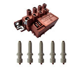 Lt 6104 - Kit 1 Usina De Ignição + 5 Eletrodos Com Terminais Fino Para Fogões Brastemp Quality Linha Prata