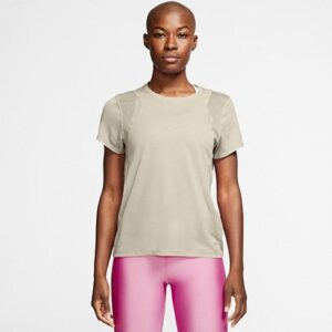 Camiseta Nike Dri-Fit Run Feminina - Feminino-Bege