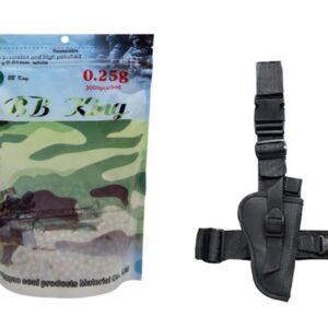 Bbs Esferas Bb King 0,25g Branca 3000un 6mm + Coldre Robocop