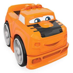 Blocos de Montar - Mega Bloks - Primeiros Carrinhos de Competição - Laranja - Mattel