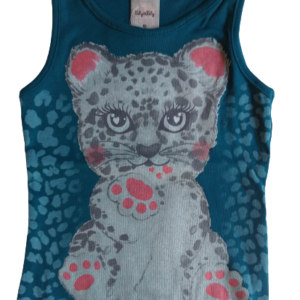 Blusa Infantil Verão Tigre - Kely & Kety - 2 - Verde escuro