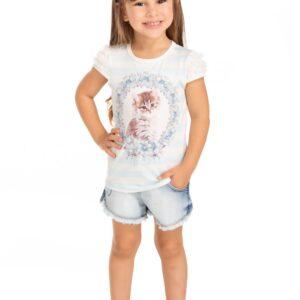 Blusa Infantil Verão Gato - Quebra cabeça - 1