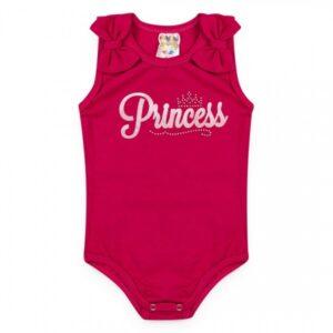 Body Bebê Menina Verão Princess Rosa - Fantoni - P - Fúcsia