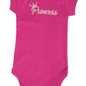 Body Bebê Verão Menina Princess - Bate Palminha  - P - Fúcsia