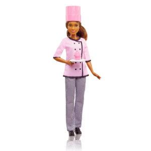 Boneca Barbie - Profissões - Cheff Cupcake - Negra - Mattel