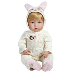 Boneca Bebê com Acessórios - Reborn - Molly com Pelúcia Fluffy - Shiny Toys