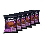 Kit com 6 Brownie Sabor Double Chocolate Protein 40g - Belive