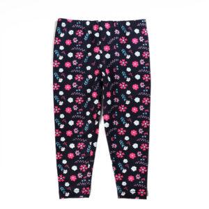 Calça Legging - Cotton Floral - Algodão e Elastano - Azul Marinho - Minimi