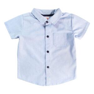 Camisa Infantil - Manga Curta - Algodão e Poliéster - Chambrey - Azul - Minimi
