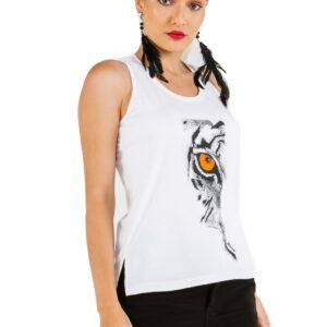 Camiseta Básica Malha Latifundio Estampa Eye