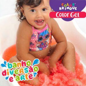 Color Gel - VERMELHO - Transforma a água da banheira em Gel para brincar