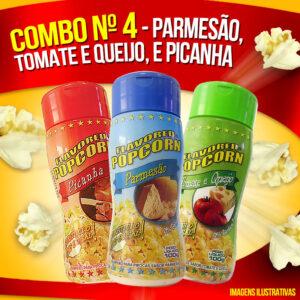 Combo Popcorn nº 4 - Parmesão, Picanha, Tomate e Queijo