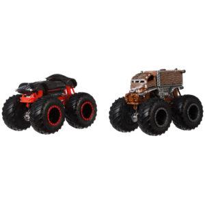 Conjunto de Veículos Hot Wheels - Monster Trucks - Darth Vader e Chewbacca - Mattel