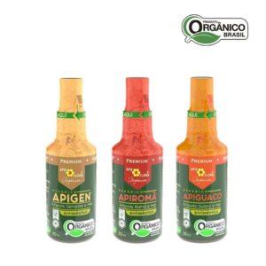 Kit 3 Sprays de Própolis Orgânico - Gengibre, Romã e Guaco