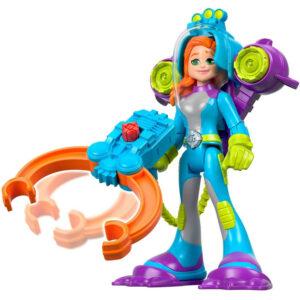 Figura de Ação e Veículo - Rescue Heroes - Sandy O'Shin - Mergulhadora - Mattel