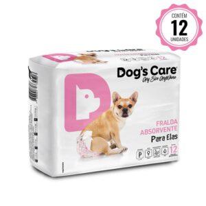 Fralda para cães Fêmea Dog's Care - P - 12 Unidades