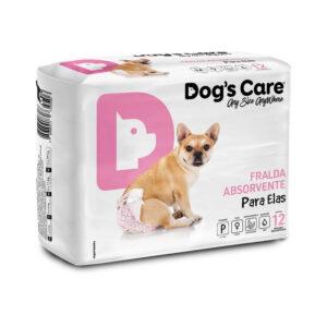 Fralda para cães Fêmea Dog's Care - M - 12 Unidades