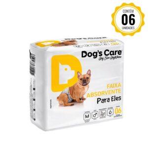Fralda Faixa Higiênica para cães Macho Dog's Care - M - 6 Unidades
