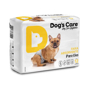 Fralda Faixa Higiênica para cães Macho Dog's Care - G - 12 Unidades