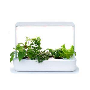 Horta Inteligente Green Leaf Branca com 6 Vasos e Iluminação Led